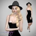 LuxySims3's Lingerie Dress