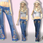 Nia's Embroided Flare Jeans