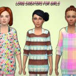 NiteSkky's Long Sweater for girls – Get To Work needed