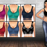 Saliwa's Ladies Lace Basic Tops