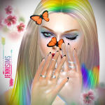 Jennisims: Downloads sims 4:Butterfly Nose,Butterfly Hair