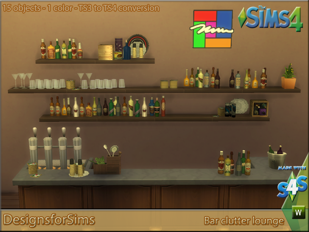 Ts3 To Ts4 Conversion Bar Lounge Clutter Designs For