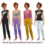 Male and Female SpaDay SweatPants Recolours by… – Julie J's Simblr