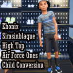 Ebonix SimsinBlaque High Top Air Forces Child Conversion