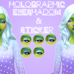 Sul Sul! Holographic Eyeshadow & Cheek Sticker!