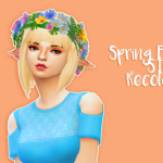 simcism Spring Fling Stuff Female Hair recolours