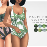 PALM PRINT SWIMSUIT RECOLORS // DOWNLOAD Alas,… : champagne and disco