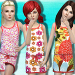 juanni84's Floral Print Dress for girls v3