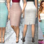 sims2fanbg's 146 – Kim Kardashian Skirt