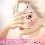 Pralinesims' Gradient Glitter Nails N05