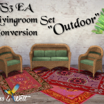 "TS3 EA Living Set ""Outdoor"" Conversion"