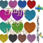 Fluffy Rugs Hearts