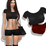 Cherryberrysims modern crop top