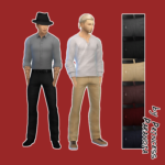 Sims 4 CC by Princess Paranoia – Some Pants for men teen – elder 6 swatches …