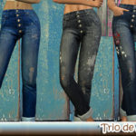 Delis'sims | Hi ! During my holidays, I made 3 jeans DIY. If…
