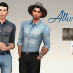 A Sims on the phone. – Allure Denim Shirt for the Sims 4. It's just a …