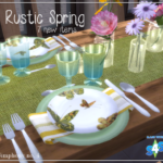 Simphony no. 4 – ~Rustic Spring Dining Decor Set~ So, here is my…