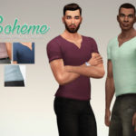 A Sims on the phone. – Bohemia T-shirt for the Sims 4. Yep, I did it …