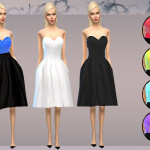 melisa inci's Skater Strapless Pleated Dress