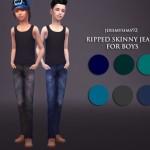 jeremy-sims92's Boy's Ripped Skinny Jeans
