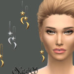 NataliS_Star Moon Front Back Drop Earrings