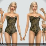 Paogae's Black&Gold Swimwear