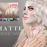 Pralinesims' Matte Almond Nails N06