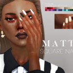 Pralinesims' Matte Square Nails N07