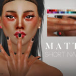 Pralinesims' Matte Short Nails N09