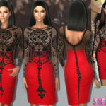 sims2fanbg's 168 – Kim Kardashian Party dress