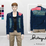 McLayneSims' Spangled Banner Denim Blazer