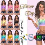 """Glitter Top """"Summer"""""""