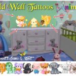 "Child Wall Tattoos ""Animals"""