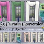 "TS3 Curtains ""Uni & Colored"" Conversion"