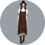 SIMS4 marigold: Layered Long Dress With T-Shirt_ wearing long dresses and T-shirts _ A woman in costume
