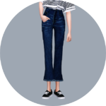 SIMS4 marigold: Cropped Flare Jeans_7 trumpet section _ A woman in costume pants