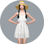 SIMS4 marigold: Natural Sleeveless Dress_ Natural sleeveless dress costumes girls _