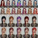 Jennisims: Downloads sims 4: Newsea DiscoBall,Arterton,Newsea Bonnie,Sophie Hairs retextures
