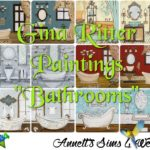 "Gina Ritter Paintings ""Bathrooms"""