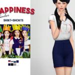 WAEKEY • Happiness Sailor Shirt + Shorts • New meshes / EA…