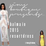 Sims Boutique — Balmain Dresses I've had these two dresses sat in…