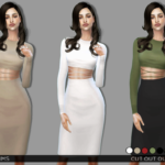 Simsway, Cut Out Outfit (TS4) Female, Teen-Elder …