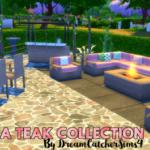 DreamCatcherSims4Marbella Teak Garden Collection