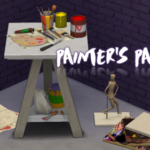 Painter's Paradise clutter set for your artsy… – Sims Like It Hot