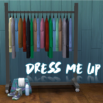 Dress Me Up set includes a clothing rack and a gym… – Sims Like It Hot