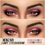 Kenzar — Lumy Eyeshadow 12 swatches Sim by @simpliciaty…