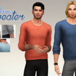 A Sims on the phone. – Basic Sweater for the Sims 4. I know, it's … Almost