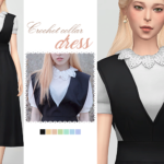 WAEKEY • Crochet Collar Dress • New mesh / EA mesh edit •…