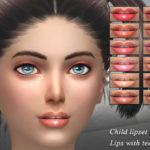 SintikliaSims' Sintiklia – Child lipset 6 – Lips with teeth