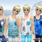 Pinkzombiecupcakes' Summer Tank Tops for Boys